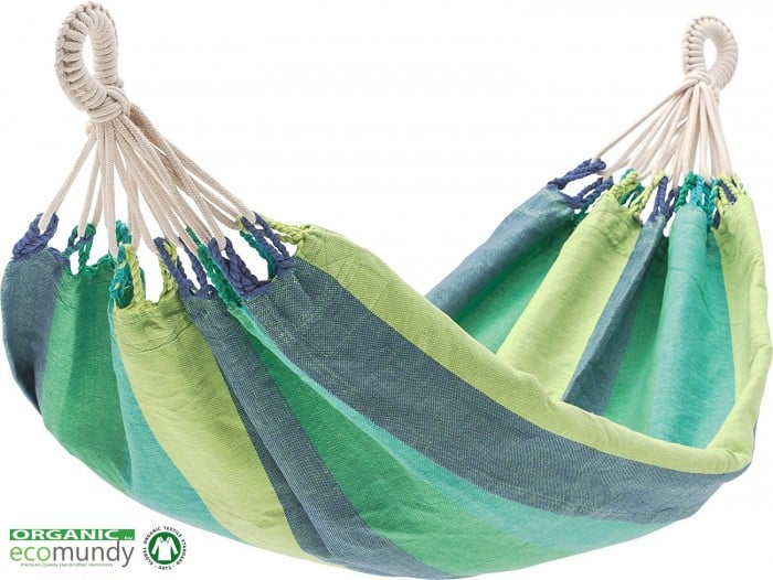 baby hangmat eco bio katoen ecomundy groen