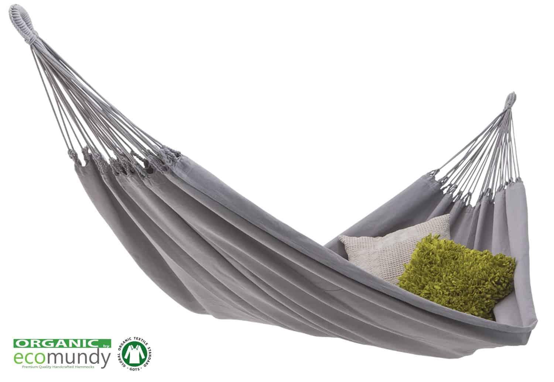 moderne hangmat licht grijs bio katoen hangmatten webshop nlluxe hangmat effen grijs bio katoen ecomundy pure xl