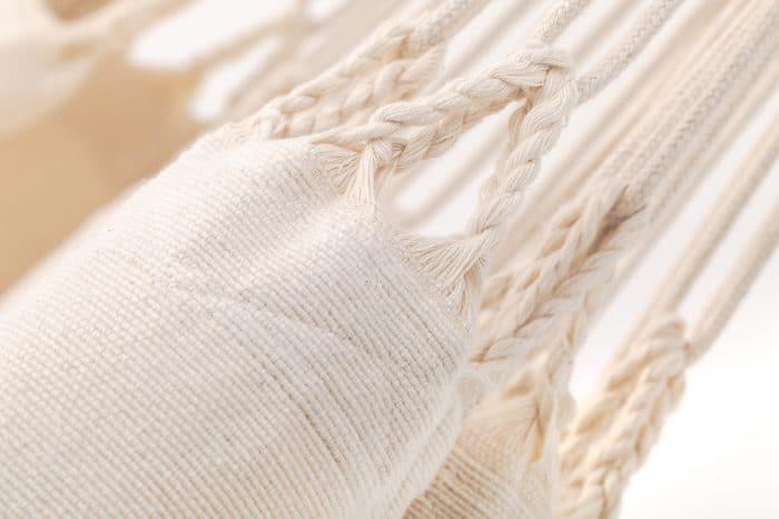 hangmat detail naturel bio katoen ecomundy premium hangmat