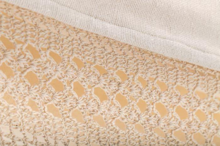 hangmat met franje | 2-persoons | naturel wit BIO katoen | ecomundy elegance XL 380 - HANGMATTEN-WEBSHOP.NL