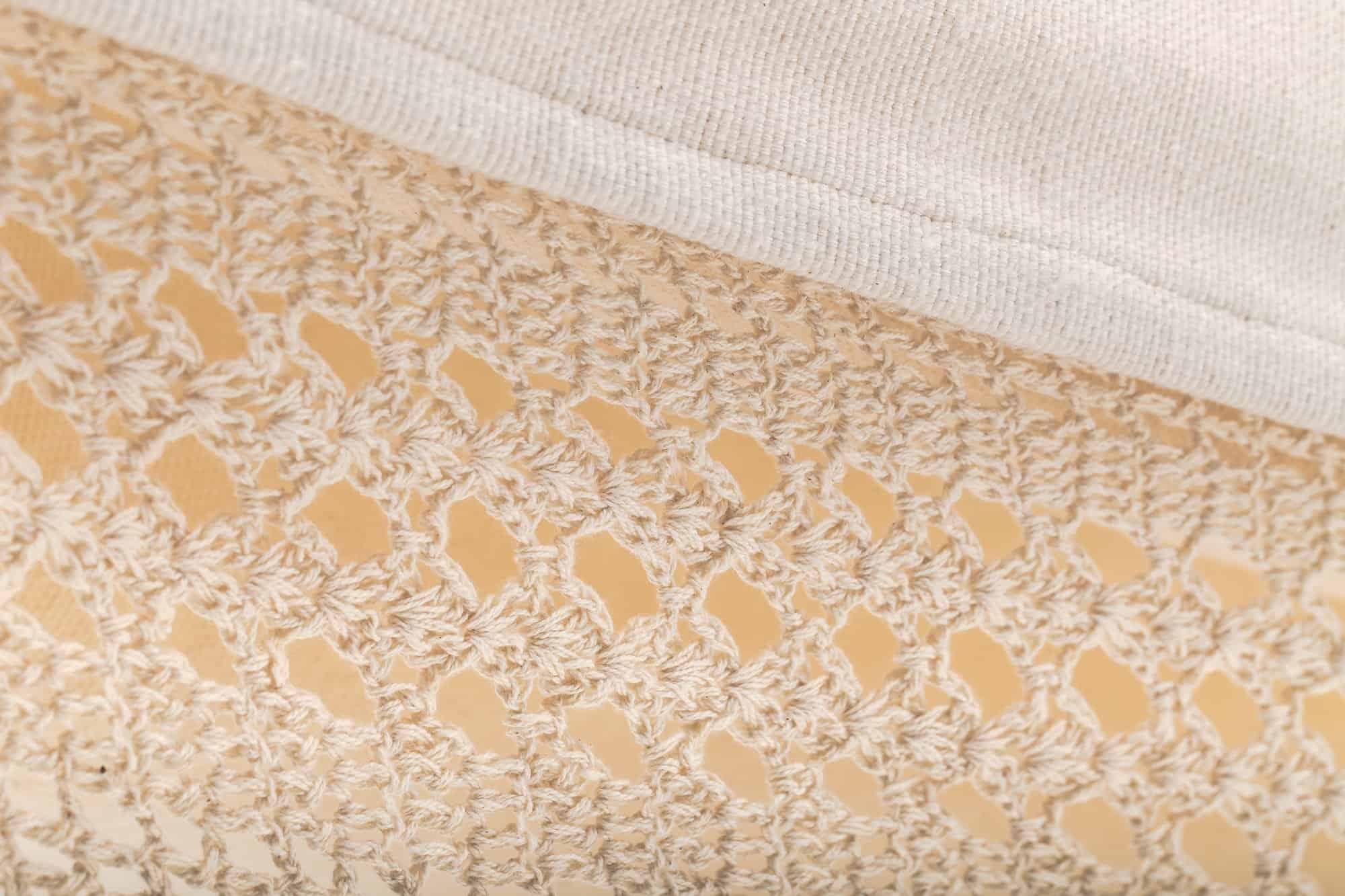 hangmat met franje | 2-persoons | naturel wit BIO katoen | ecomundy elegance XL 380