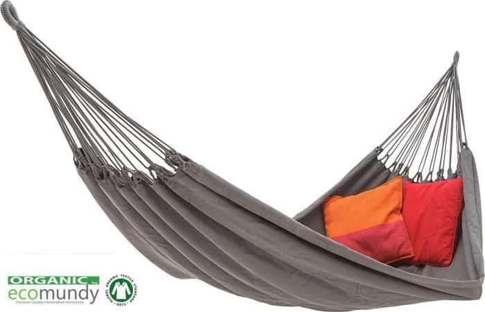 Luxe hangmat antraciet grijs biologisch katoen GOTS Ecomundy Pure XL