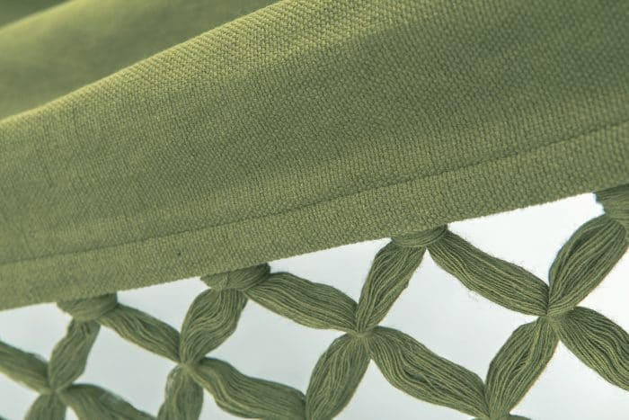 groene hangmat met franje | BIO katoen | GOTS | ecomundy romance XL 360 - HANGMATTEN-WEBSHOP.NL