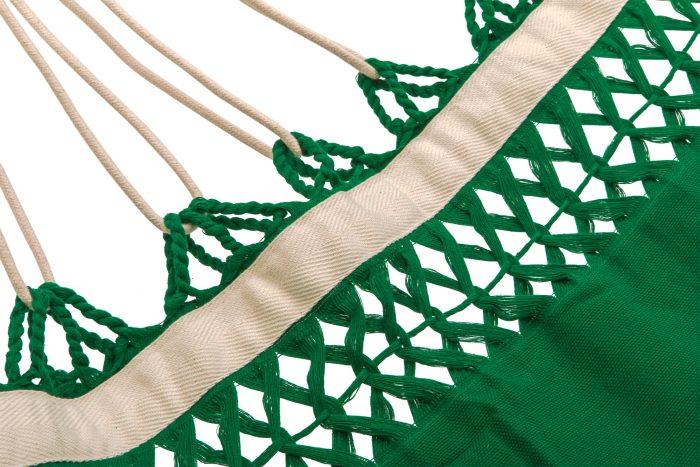 hangmat | effen licht groen | 2-persoons | BIO katoen - GOTS | ecomundy pure XL 360 - HANGMATTEN-WEBSHOP.NL