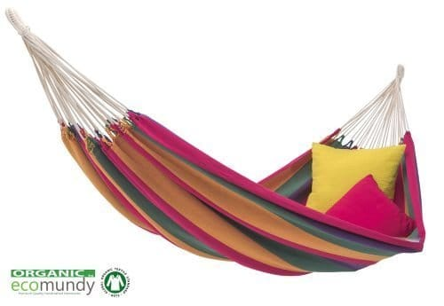 hangmat pure rainbow multicolor eco bio katoen handgeweven gots ecomundy