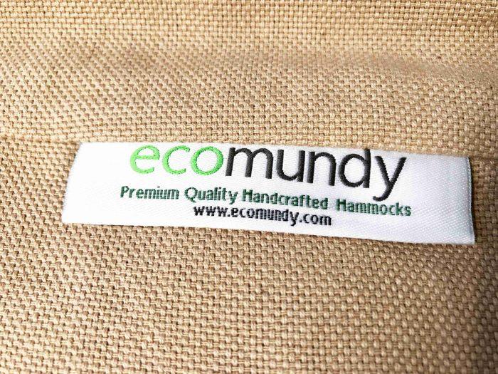 luxe beige hangmat handgeweven bio katoen ecomundy